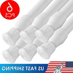 2/4/6 Pack Curtain Tension Rods   23 to 43 inches Spring Cur