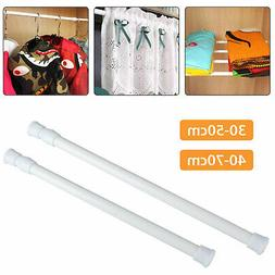 2 Size Tension Curtain Rod Spring Load Adjustable Curtain Po