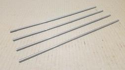 """304 Stainless Steel 3/16"""" Round, 12"""" long bars, rods, 4 pack"""