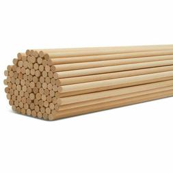 5/8 Inch x 36 Inch Wooden Dowel Rods 50 Pcs. - Unfinished Re