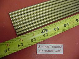 """8 Pieces of 3/16"""" C360 BRASS SOLID ROUND ROD 14"""" long .187"""""""