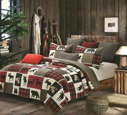 12 PC FULL SIZE CHOCOLATE RODEO COMFORTER AND SHEET SET BEDD