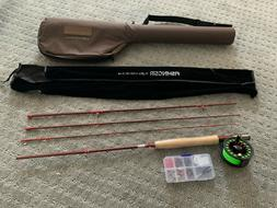 FISHINGSIR FLY FISHING ROD AND REEL COMBO COMPLETE STARTER K