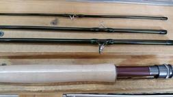 """Fly Rod Reel Line and Case Combo  8'9""""  4 Piece 5 weight"""