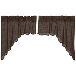 VHC Brands Classic Country Primitive Kitchen Window Curtains