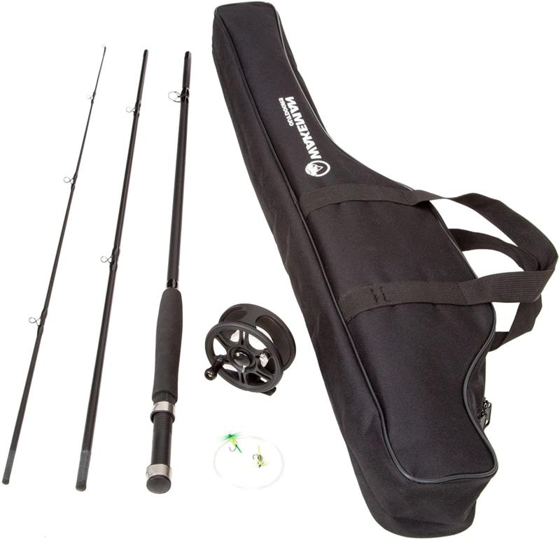 fishing fly rod and reel combo