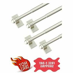 Multi-Use Adjustable Magnetic Curtain Rods For Doors Windows