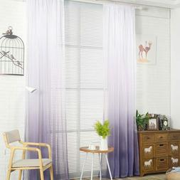 New Purple Gradient Color Tulle Curtains for Living Room Bed