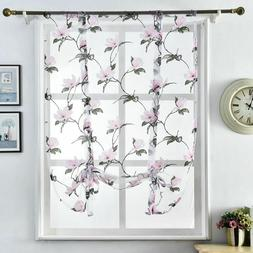 Sheer Curtains Kitchen Home Window Treatments Decorations Fl