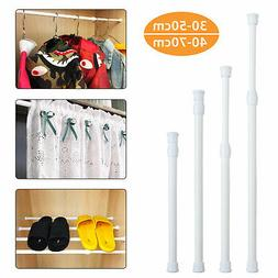 White Spring Heavy duty Tension Extendable Curtain Window Ro